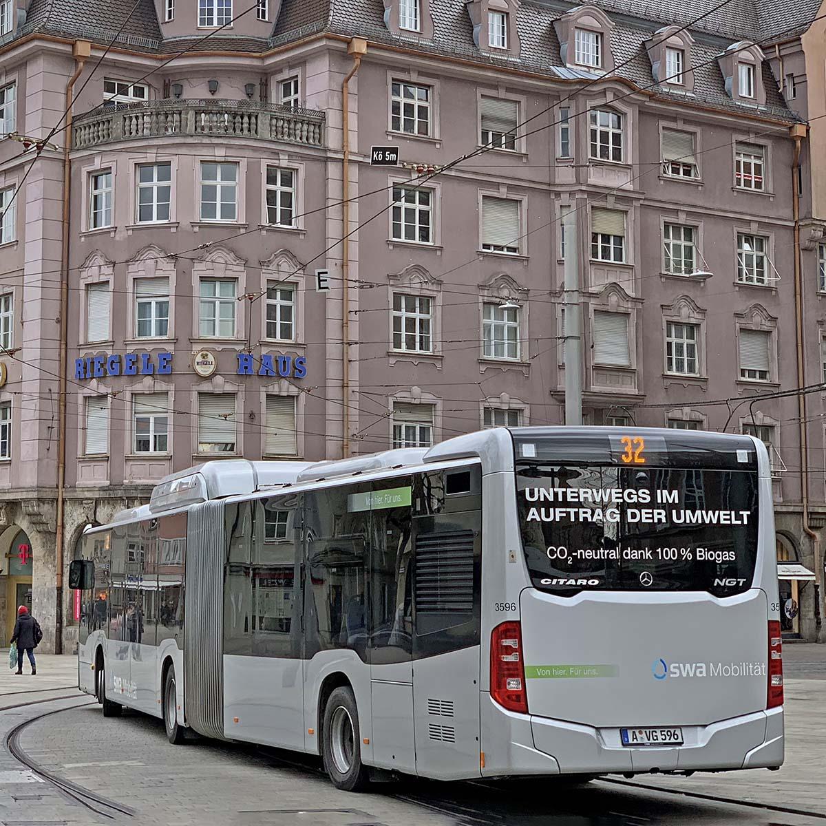 Stadtwerke Bus Flotte Bio Erdgas Förderung Elektro Busflotte Förderprogramm Strom Diesel Dieselmotor Bus Mobilität Verkehr Umwelt City Fuggerstadt PRO AUGSBURG Fraktion Verein Stadtrat Antrag Foto Andreas Zilse